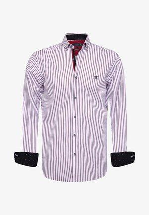 Overhemd - white-red-line