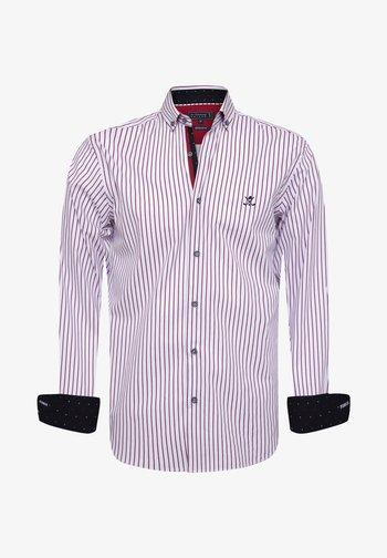 Shirt - white-red-line