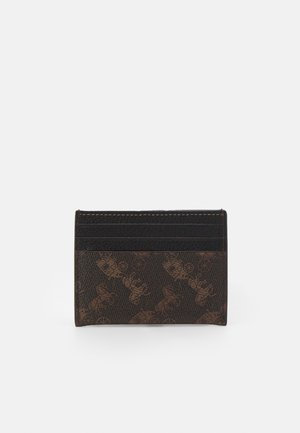 HORSE AND CARRIAGE FLAT CARD CASE - Punge - black/brown