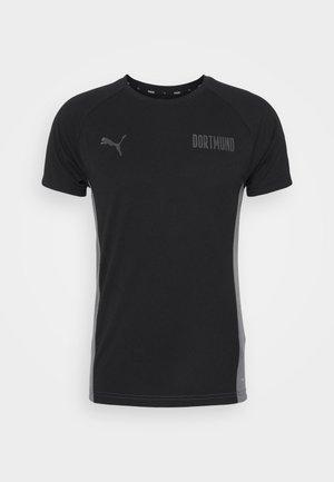 BVB BORUSSIA DORTMUND EVOSTRIPE TEE - Club wear - black