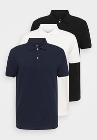 3 PACK - Polo shirt - black/white/dark blue
