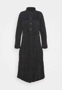 LONGSLEEVE DRESS - Denim dress - black duns