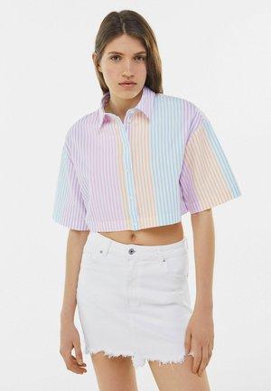 MIT BUNTEN STREIFEN - Button-down blouse - multi-coloured