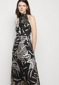 Milly - ADRIAN PALM BURNOUT DRESS - Shift dress - black/neutral - 3