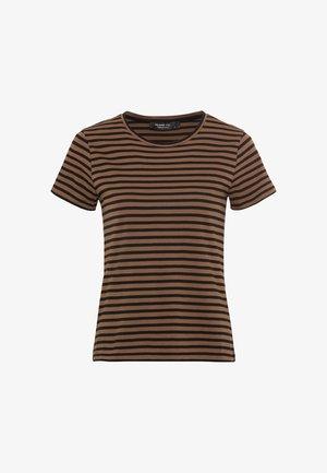 Print T-shirt - noisette
