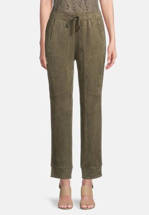 MIT TUNNELZUG - Trousers - dusty olive