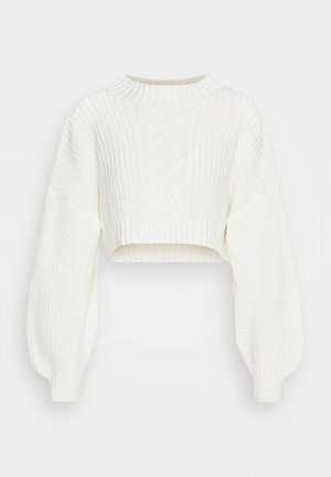 CROPPED - Strikkegenser - off white