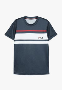 Fila - TREY BOYS - Print T-shirt - peacoat blue/white/red - 0