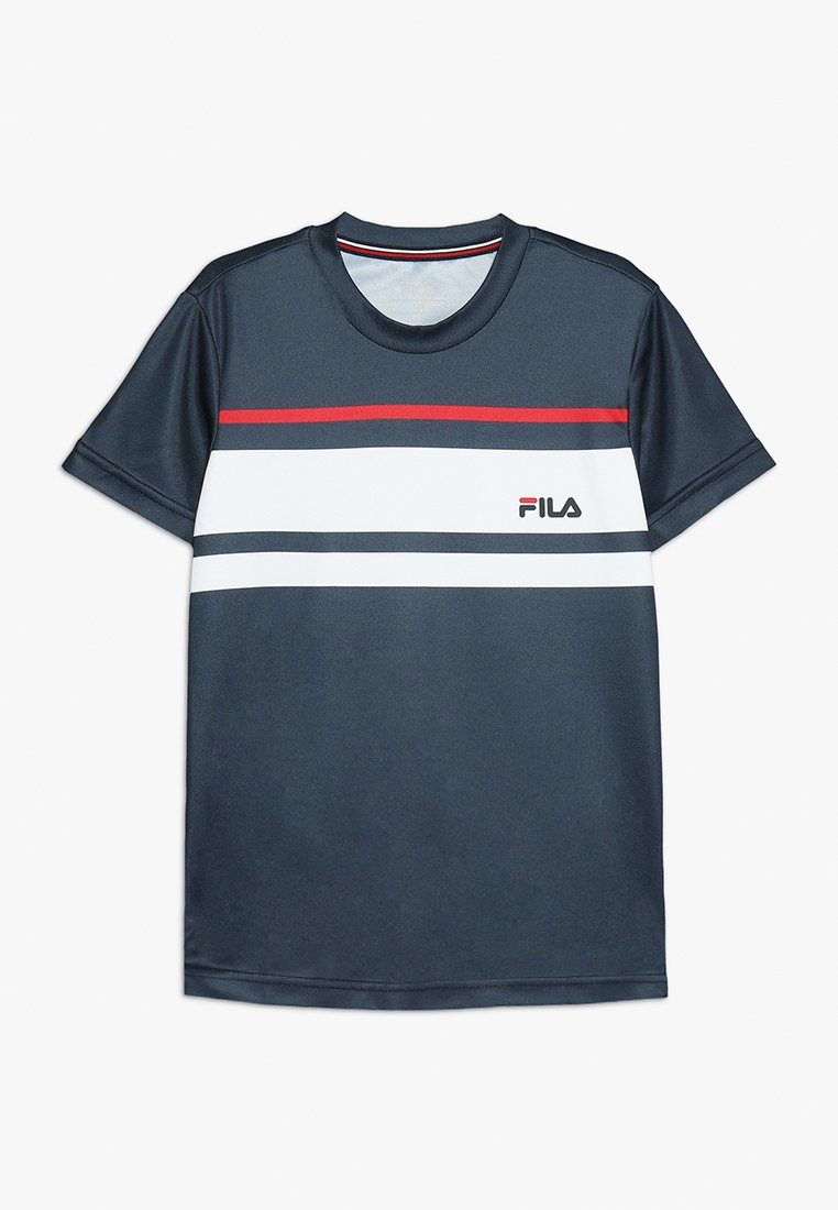 Fila - TREY BOYS - Print T-shirt - peacoat blue/white/red