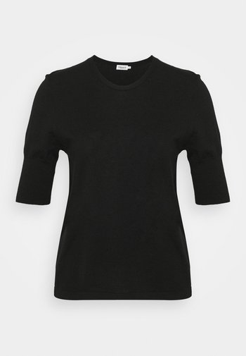 CLAIRE ELBOW SLEEVE - Basic T-shirt - black