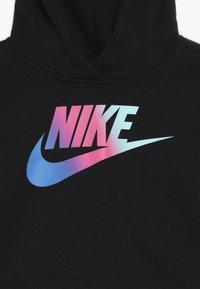 Nike Sportswear - CROP - Felpa con cappuccio - black/white - 3