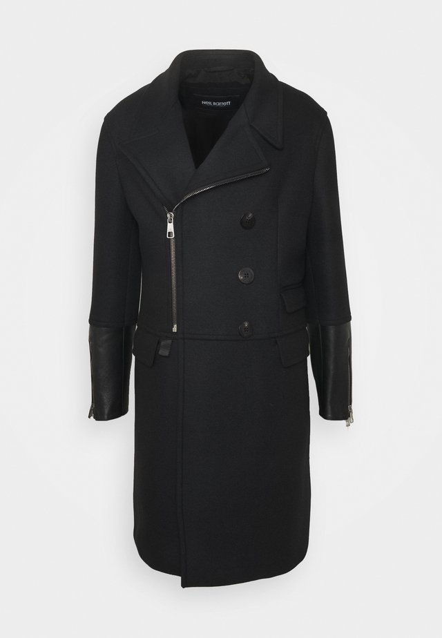 ZIP UP WITH BIKER - Classic coat - black