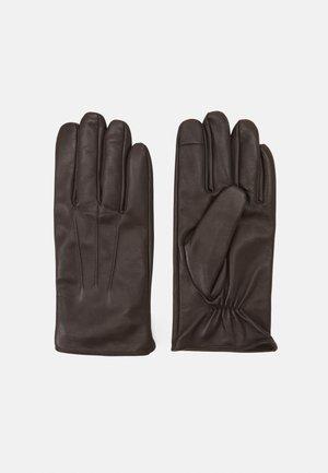 Gloves - dark brown