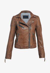 Oakwood - SALOME - Leather jacket - cognac - 2