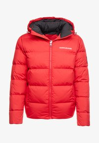 Calvin Klein Jeans - HOODED PUFFER - Down jacket - racing red - 5