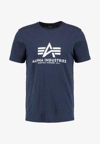 Alpha Industries - BASIC - Print T-shirt - navy - 5