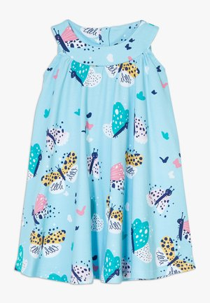 FUNNY BUTTERFLIES FLARED DRESS - Day dress - turquoise