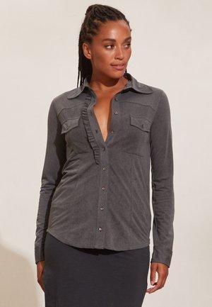 VERONICA - Button-down blouse - asphalt