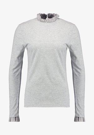 SLUB FRILL - T-shirt à manches longues - grey