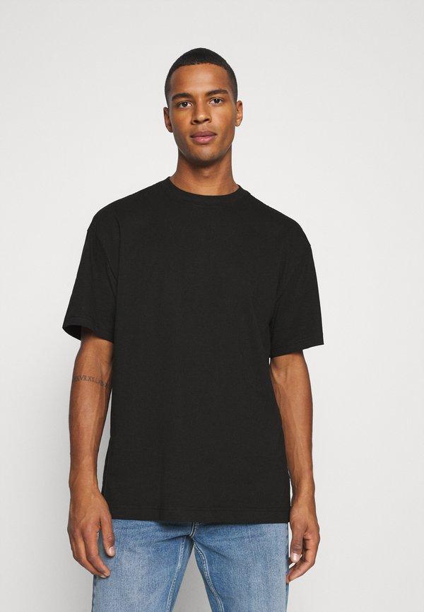 Weekday OVERSIZED - T-shirt basic - black/czarny Odzież Męska UGAI