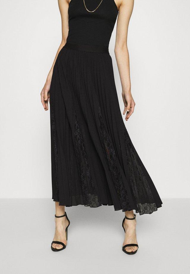 LUISA SKIRT - Jupe plissée - jet black