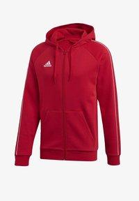 adidas Performance - CORE 19 HOODIE - Huvtröja med dragkedja - red - 8
