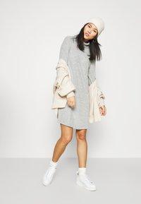 GAP - TURTLENECK DRESS - Gebreide jurk - light grey marle - 1