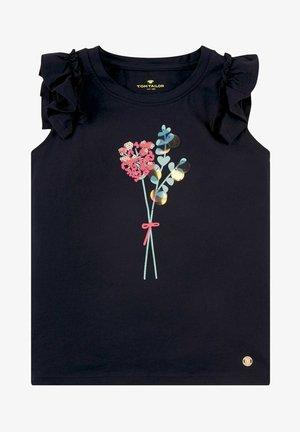 VERSPIELTES MIT ARTWORK - T-shirt print - night sky blue