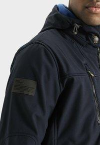camel active - MIT STEHKRAGEN UND KAPUZE - Summer jacket - navy - 3