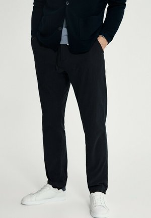 Trousers - blue black denim