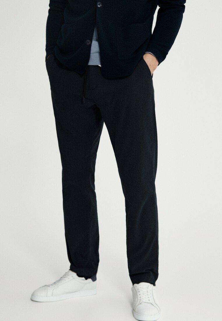 Massimo Dutti - Broek - blue black denim