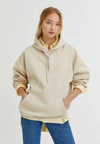 PULL&BEAR - OVERSIZE - Hoodie - mottled beige - 0