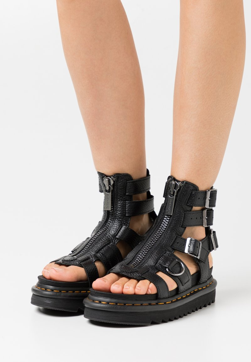Dr. Martens - OLSON - Ankle cuff sandals - black aunt sally