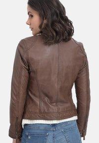 Oakwood - HOLA - Leather jacket - camel - 2