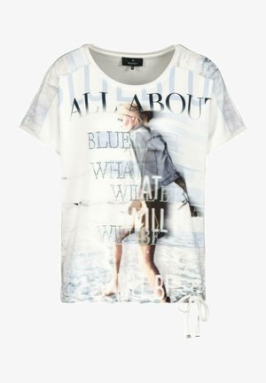 MIT KURZARM UND PRINT - Print T-shirt - white