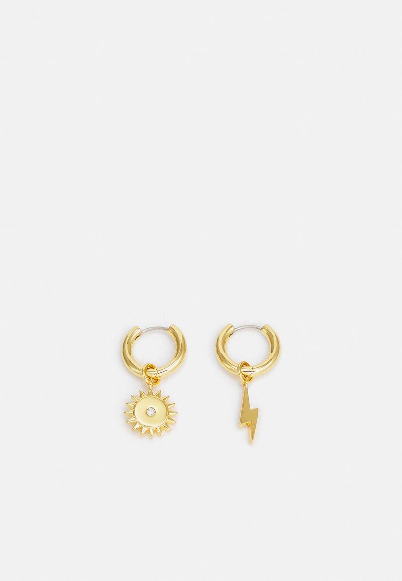Rebecca Minkoff - LIGHTNING BOLT & SUN MIS-MATCH HUGGIE EARRING - Oorbellen - gold-coloured