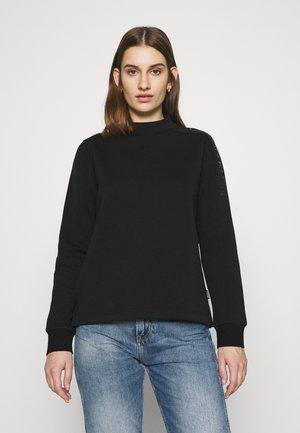 LOGO FUNNEL NECK  - Bluzka z długim rękawem - black