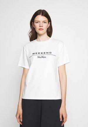 NAVETTA - Print T-shirt - white