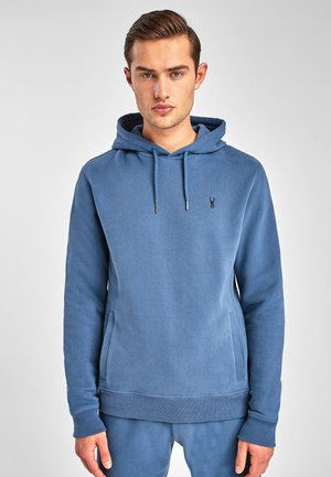 Hoodie - mottled turquoise