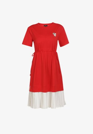 KLEID - Day dress - rot weiss