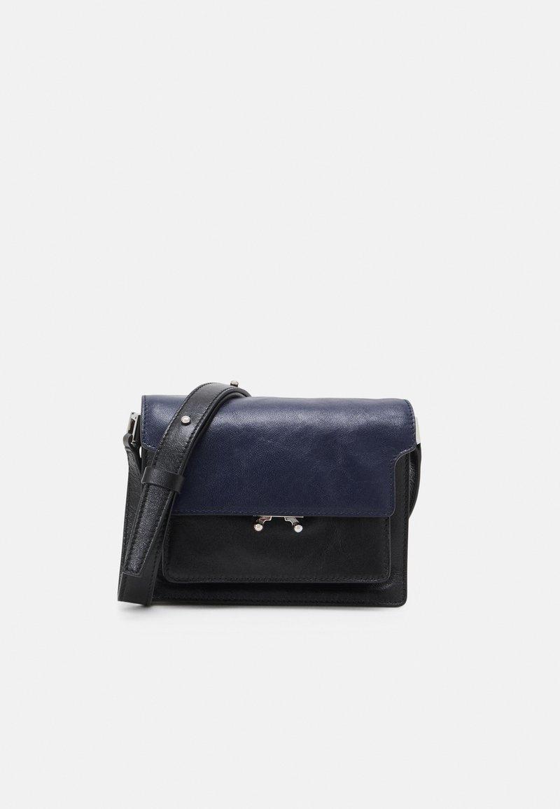 Marni - TRUNK SOFT MINI UNISEX - Across body bag - navy blue/black