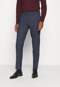 Isaac Dewhirst - DOUBLE BREASTED WINDOWPANE CHECK SUIT - Completo - dark blue - 4