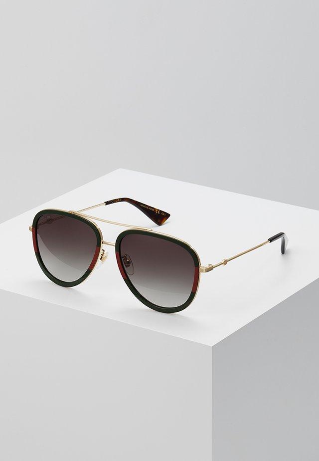 Solglasögon - gold/green