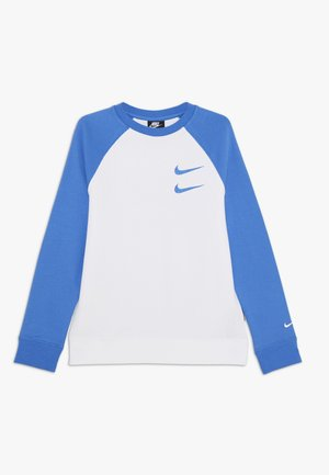 CREW - Sweatshirt - white/pacific blue