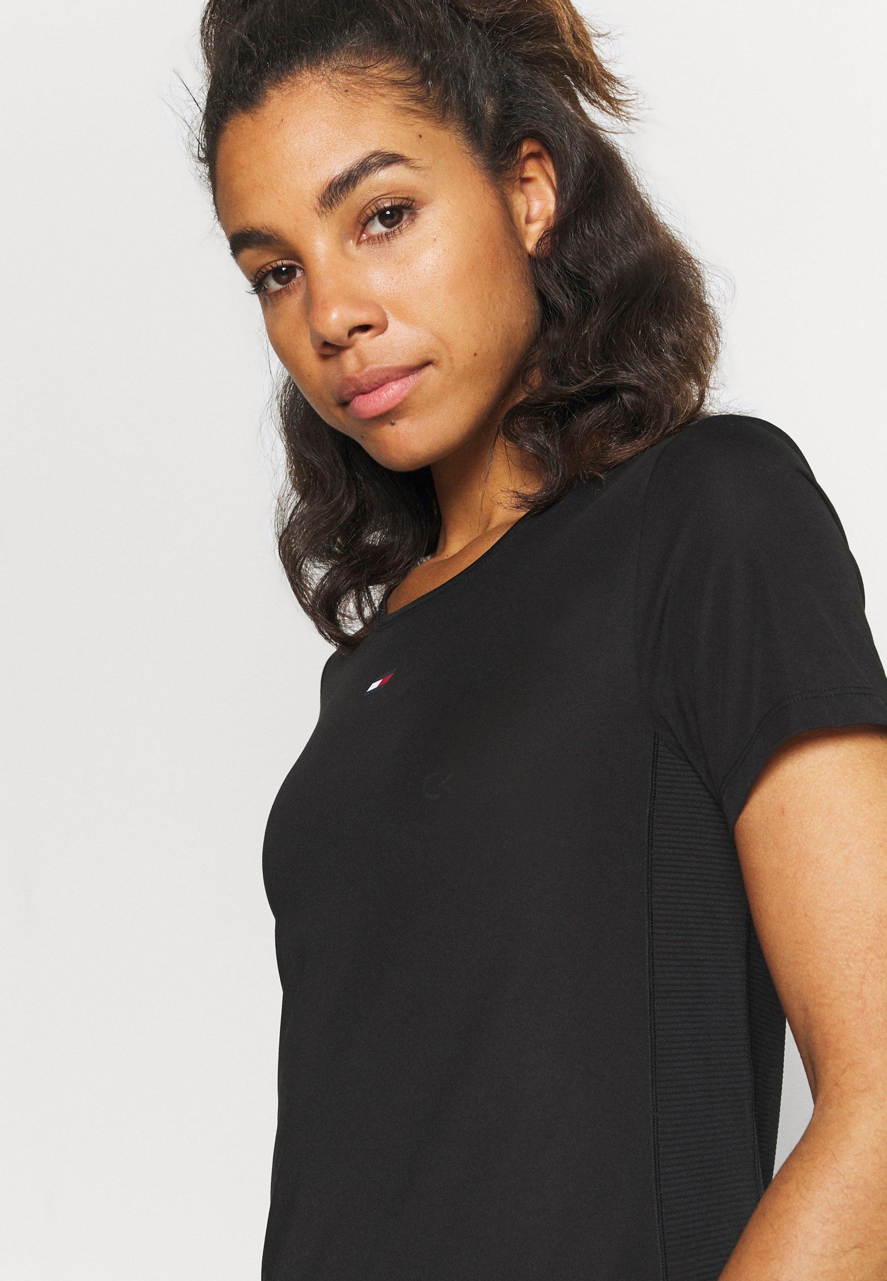 Donna REGULAR FABRIC MIX TEE - T-shirt sportiva