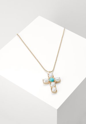 CROSS LONG PENDANT - Necklace - gold-coloured