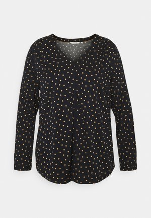 Blouse - navy/brown
