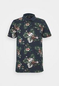 TESCO PRINT - Polo shirt - navy