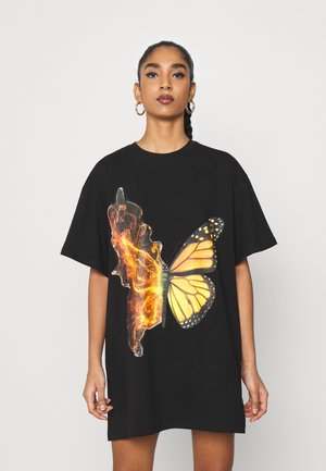 BUTTERFLY DRESS - Jersey dress - black
