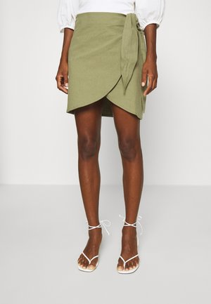 WRAP SKIRT - Falda de tubo - khaki